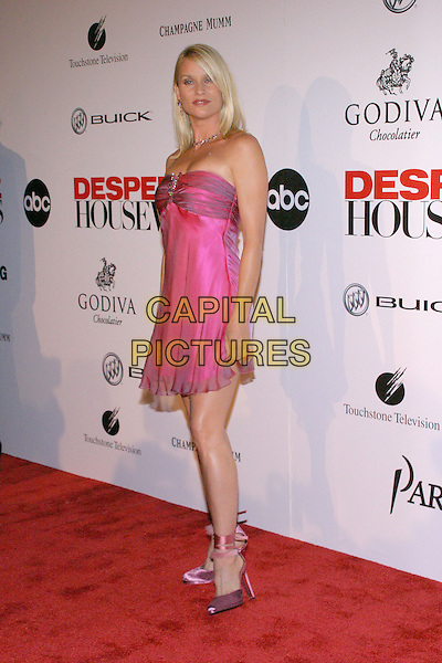 NICOLLETTE SHERIDAN.Desparate Housewives - New ABC Series Viewing Party at Barney's Beverly Hills Store. .October 3rd, 2004.full length, pink strapless dress, chiffon, pink ribbon sandals Nicolette.www.capitalpictures.com.sales@capitalpictures.com.© Jacqui Wong/AdMedia/Capital Pictures.