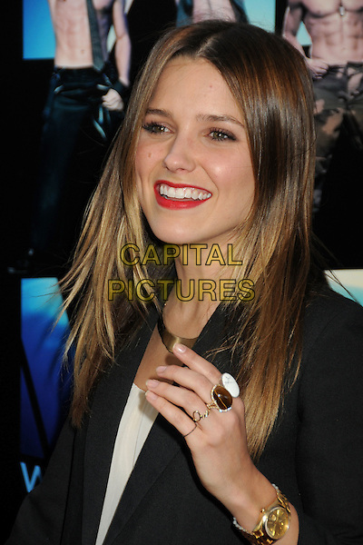 "Sophia Bush.""Magic Mike"" Los Angeles Film Festival 2012 Premiere held at Regal Cinemas LA Live, Los Angeles, California, USA..June 24th, 2012.headshot portrait black red lipstick hand gold ring wristwatch watch .CAP/ADM/BP.©Byron Purvis/AdMedia/Capital Pictures."