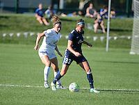 Kansas City, MO - Sunday September 04, 2016: Caroline Kastor, Erin Simon during a regular season National Women's Soccer League (NWSL) match between FC Kansas City and the Sky Blue FC at Swope Soccer Village.