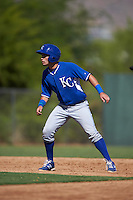 Kansas City Royals Sebastian Rivero (46) during an instructional league game against the San Francisco Giants on October 23, 2015 at the Papago Baseball Facility in Phoenix, Arizona.  (Mike Janes/Four Seam Images)