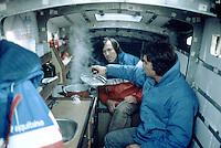 Marc Pajot avec Paul Ayasse sur Elf Aquitaine, 1981. Vainqueur de la Route du Rhum 1982.