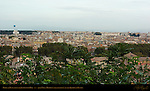 Dusk View from the Janiculum Hill Villa Medici and Trevi Section of Rome