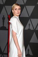 HOLLYWOOD, CA - NOVEMBER 11: Greta Gerwig at the AMPAS 9th Annual Governors Awards at the Dolby Ballroom in Hollywood, California on November 11, 2017. Credit: David Edwards/MediaPunch /NortePhoto.com