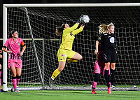 goalkeeper Sara Missair of Sporting Charleroi pictured in action during a female soccer game between Sporting Charleroi and FC Femina White Star Woluwe on the second matchday of the 2020 - 2021 season of Belgian Scooore Women s SuperLeague , friday 4 th of September 2020  in Marcinelle , Belgium . PHOTO SPORTPIX.BE | SPP | DAVID CATRY