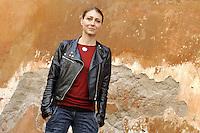 """Roma, 6 Aprile 2012.Photocall del film """"Diaz"""" .L'attrice Alessia Giuliani."""