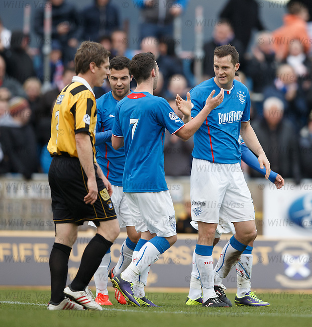Jon Daly celebrates with Nicky Clark