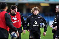 Nick Auterac of Bath Rugby looks on during the pre-match warm-up. European Rugby Champions Cup match, between Bath Rugby and RC Toulon on January 23, 2016 at the Recreation Ground in Bath, England. Photo by: Patrick Khachfe / Onside Images