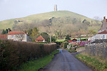 Road leading to Glastonbury Tor, Somerset, England
