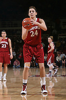 STANFORD, CA - JANUARY 30:  Ashley Cimino of the Stanford Cardinal during Stanford's 83-62 win over Arizona on January 30, 2010 at Maples Pavilion in Stanford, California.