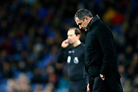 Swansea City manager Paul Clement shows a look of dejection during the Premier League match between Burnley and Swansea City at Turf Moor, Burnley, England, UK. Saturday 18 November 2017