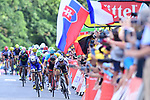 World Champion Peter Sagan (SVK) Bora-Hansgrohe outsprints Greg Van Avermaet (BEL) BMC Racing Team and Dan Martin (IRL) Quick-Step Floors at the finish of Stage 3 of the 104th edition of the Tour de France 2017, running 212.5km from Verviers, Belgium to Longwy, France. 3rd July 2017.<br /> Picture: ASO/P.Ballet | Cyclefile<br /> <br /> All photos usage must carry mandatory copyright credit (&copy; Cyclefile | ASO/P.Ballet)