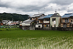 Kyoto, June 27 2013 - Houses around Shugakuin Imperial villa