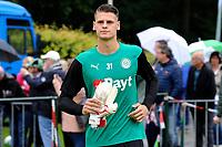 HAREN - Voetbal, Eerste training FC Groningen, Sportpark de Koepel, seizoen 2018-2019, 24-06-2018,  FC Groningen doelman Jan Hoekstra
