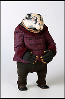 BNPS.co.uk (01202 558833)<br /> Pic:   Dukes/BNPS<br /> <br /> Wind in the Willows character 'Badger'.<br /> <br /> The original figures from the childhood classic film Wind in the Willows have emerged for sale for £10,000.<br /> <br /> Twenty five figures will go under the hammer including the four main characters, Badger, Toad, Mole and Ratty.<br /> <br /> They were used in the 1983 animation film and subsequent TV show which ran for 52 episodes on ITV from 1984 to 1988.<br /> <br /> The beloved film, in which Chief Weasel was voiced by David Jason, won a BAFTA for 'best children's programme' and an international Emmy.