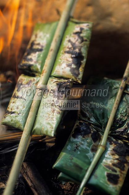 """Asie/Thaïlande/Petchabun : Dorade cuite dans les feuilles de bananier - Recette du restaurant de """"l'Imperial Phu Kaew Resort"""""""