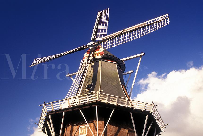 windmill, Netherlands, Holland, Groningen, Delfzijl, Europe