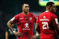 Piula Faasalele of Toulouse looks on during a break in play. Heineken Champions Cup match, between Stade Toulousain and Bath Rugby on January 20, 2019 at the Stade Ernest Wallon in Toulouse, France. Photo by: Patrick Khachfe / Onside Images