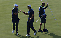Henrik Stenson (Team Europe) putting on the 7th during Friday's Foursomes, at the Ryder Cup, Le Golf National, Île-de-France, France. 28/09/2018.<br /> Picture David Lloyd / Golffile.ie<br /> <br /> All photo usage must carry mandatory copyright credit (© Golffile | David Lloyd)