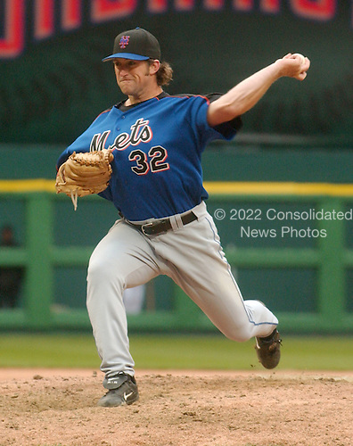Washington, D.C. - April 3, 2005 -- Unidentified pitcher for the New York Mets as they visit the Washington Nationals at RFK Stadium in Washington, D.C. on April 3, 2005..Credit: Ron Sachs / CNP.(RESTRICTION: NO New York or New Jersey Newspapers or newspapers within a 75 mile radius of New York City)