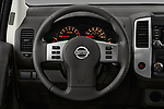 Car pictures of steering wheel view of a 2018 Nissan Frontier S-King-Cab 4 Door Pickup Steering Wheel