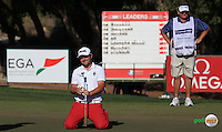 Could have joined Danny Willett (ENG) on top of the leaderboard, Andy Sullivan (ENG) misses birdie on the 14th  during the Final Round of the 2016 Omega Dubai Desert Classic, played on the Emirates Golf Club, Dubai, United Arab Emirates.  07/02/2016. Picture: Golffile | David Lloyd<br /> <br /> All photos usage must carry mandatory copyright credit (&copy; Golffile | David Lloyd)