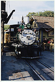 A head-on view of D&amp;RGW #340 at the Knott's Berry Farm depot.<br /> D&amp;RGW  Buena Park, CA  Taken by Dorman, Richard L. - 8/13/2003