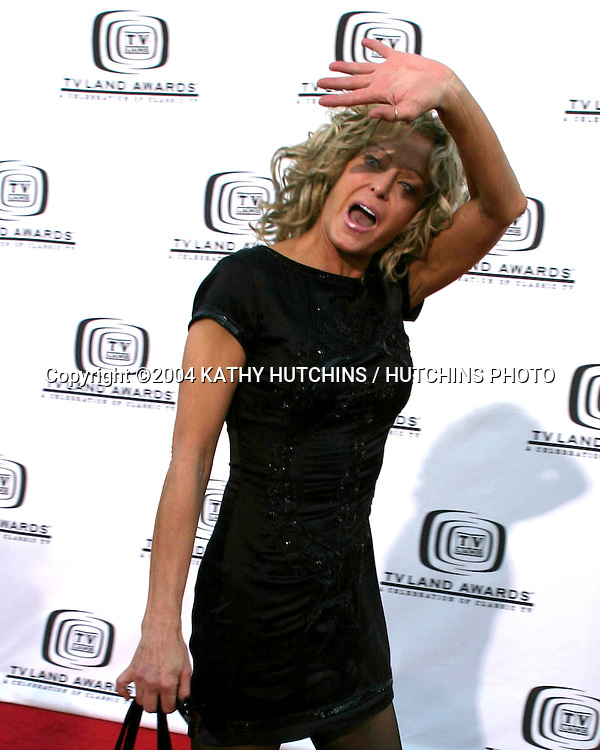 ©2004 KATHY HUTCHINS /HUTCHINS PHOTO.TV LAND AWARDS.HOLLYWOOD, CA.MARCH 7, 2004..FARRAH FAWCETT.