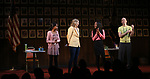 """Rosdely Ciprian, Heidi Schreck, Thursday Williams and Mike Iveson during the Broadway Opening Night Performance Curtain Call of  """"What The Constitution Means To Me"""" at the Hayes Theatre on March 31, 2019 in New York City."""