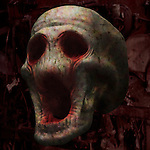 A conceptual image of a skull face
