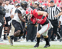 Athens, GA - October 15, 2016: The University of Georgia Bulldogs play the Vanderbilt University Commodores at Sanford Stadium.  Final score Vanderbilt 17, Georgia 16.