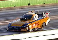 Oct 17, 2015; Ennis, TX, USA; NHRA funny car driver Del Worsham during qualifying for the Fall Nationals at the Texas Motorplex. Mandatory Credit: Mark J. Rebilas-USA TODAY Sports