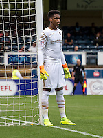 Goalkeeper Jamal Blackman (on loan from Chelsea) of Wycombe Wanderers during the Sky Bet League 2 match between Wycombe Wanderers and Colchester United at Adams Park, High Wycombe, England on 27 August 2016. Photo by Liam McAvoy.