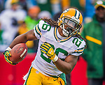 14 December 2014: Green Bay Packers running back DuJuan Harris warms up prior to facing the Buffalo Bills at Ralph Wilson Stadium in Orchard Park, NY. The Bills defeated the Packers 21-13, snapping the Packers' 5-game winning streak and keeping the Bills' 2014 playoff hopes alive. Mandatory Credit: Ed Wolfstein Photo *** RAW (NEF) Image File Available ***