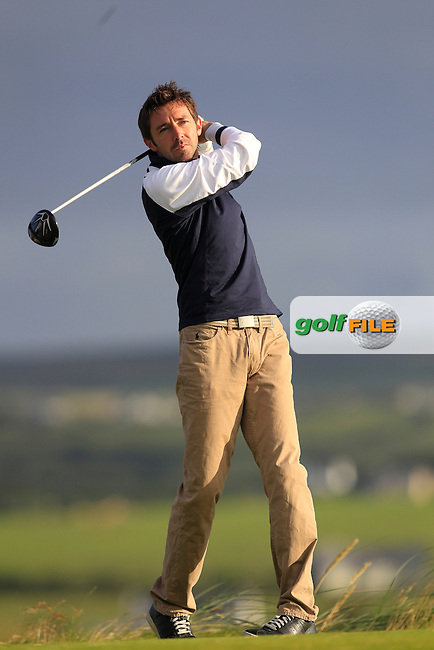 Paul O'Sullivan (Bray) on the 2nd tee during Round 2 of the South of Ireland Amateur Open Championship at LaHinch Golf Club on Thursday 23rd July 2015.<br /> Picture:  Golffile | Thos Caffrey