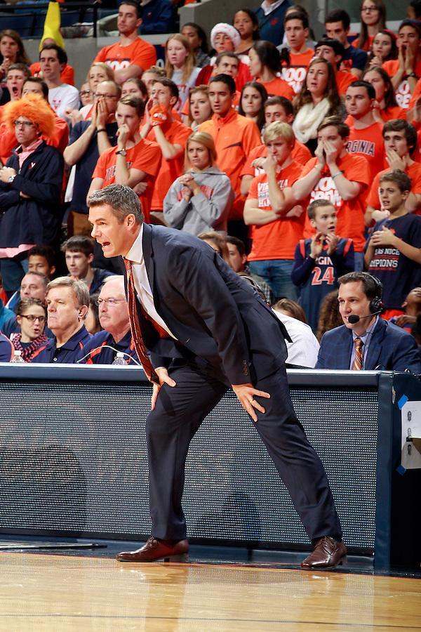 Virginia head coach Tony Bennett during an ACC basketball game Jan. 13, 2015 in Charlottesville, VA Virginia won 65-42.