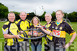 Steve Key, David Costello, Margo Brosnan, David Costello and Noelle Scanlon launching the Currow Ladies GAA club cycle which will start in Currow on Sunday