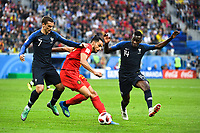 Antoine Griezmann of France, Nacer Chadli of Belgium and Blaise Matuidi of France during the Semi Final FIFA World Cup match between France and Belgium at Krestovsky Stadium on July 10, 2018 in Saint Petersburg, Russia. (Photo by Anthony Dibon/Icon Sport)