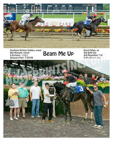 Beam Me Up winning at Delaware Park on 7/20/09