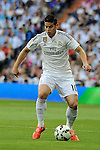 Real Madrid´s James Rodriguez during 2014-15 La Liga match between Real Madrid and Valencia at Santiago Bernabeu stadium in Madrid, Spain. May 09, 2015. (ALTERPHOTOS/Luis Fernandez)
