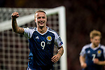 Scotland's Leigh Griffiths celebrates scoring his sides second goal of the night during the World Cup Qualifying Group F match at Hampden Park Stadium, Glasgow. Picture date 4th September 2017. Picture credit should read: Craig Watson/Sportimage