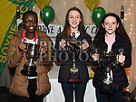 Saran Meite, Anna Faulkner and Lily Cummins at the Boyne AC awards night in the Westcourt Hotel. Photo:Colin Bell/pressphotos.ie