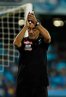 Maurizio Sarri during the  italian serie a soccer match,between SSC Napoli and AC Chievo       at  the San  Paolo   stadium in Naples  Italy , September 25, 2016