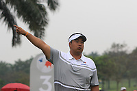 Kiradech Aphibarnrat (Asia) on the 3rd tee during the Saturday Foursomes of the Eurasia Cup at Glenmarie Golf and Country Club on the 13th January 2018.<br /> Picture:  Thos Caffrey / www.golffile.ie