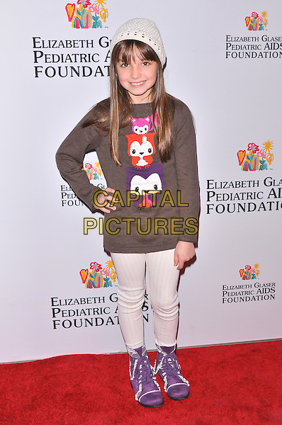 Mackenzie Aladjem.2011 Elizabeth Glaser Pediatric AIDS Foundation Kids For Kids Family Carnival, New York City, NY, USA..November 5th, 2011.full length brown jumper sweater top hand on hip purple shoes beige trousers hat .CAP/ADM/CS.©Christopher Smith/AdMedia/Capital Pictures.