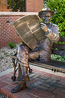 """All I Know is What I Read In the Papers"" a monument to Will Rogers, located on Will Rogers BLVD in Claremore Oklahoma."