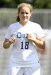 11 September 2011: Duke's Maddy Haller. The Duke University Blue Devils defeated the University of North Carolina at Greensboro Spartans 2-0 at Koskinen Stadium in Durham, North Carolina in an NCAA Division I Women's Soccer game.