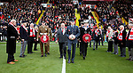 Members of the armed service with wreaths during the Emirates FA Cup Round One match at Bramall Lane Stadium, Sheffield. Picture date: November 6th, 2016. Pic Simon Bellis/Sportimage