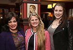 Charlotte St. Martin, Bonnie Comley and Leah Lane attends the The Robert Whitehead Award presented to Mike Isaacson at Sardi's on May 10, 2017 in New York City.