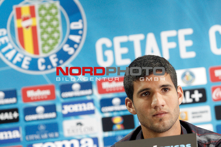 Getafe's new player Lisandro Ezequiel Lopez during his official presentation. September 3, 2013. Foto © nph / Acero)