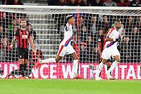 Patrick van Aanholt of Crystal Palace celebrates after scoring to make the score 1-1 during AFC Bournemouth vs Crystal Palace, Premier League Football at the Vitality Stadium on 1st October 2018